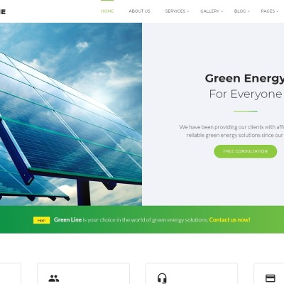 Green Line - Environmental Multipage Website Template #64427