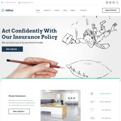 Insurance Responsive Joomla Template #64435