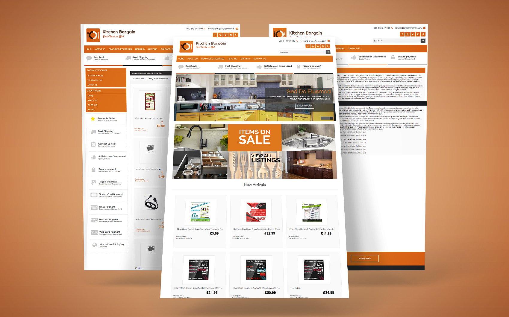 Kitchen Bargains EBay Template - screenshot