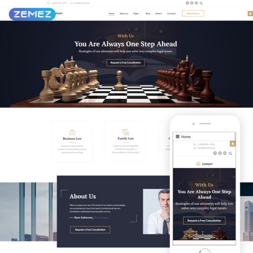 Law Firm - Joomla! Template based on Bootstrap