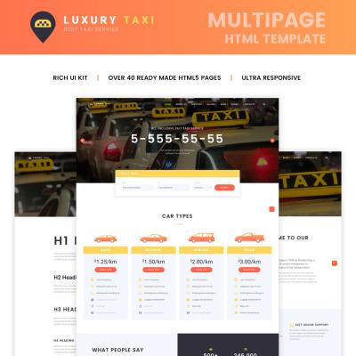 22+ Best Taxi Website Templates