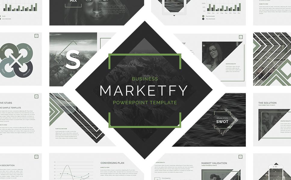 """Marketfy"" 奖金PowerPoint 模板 #64463"