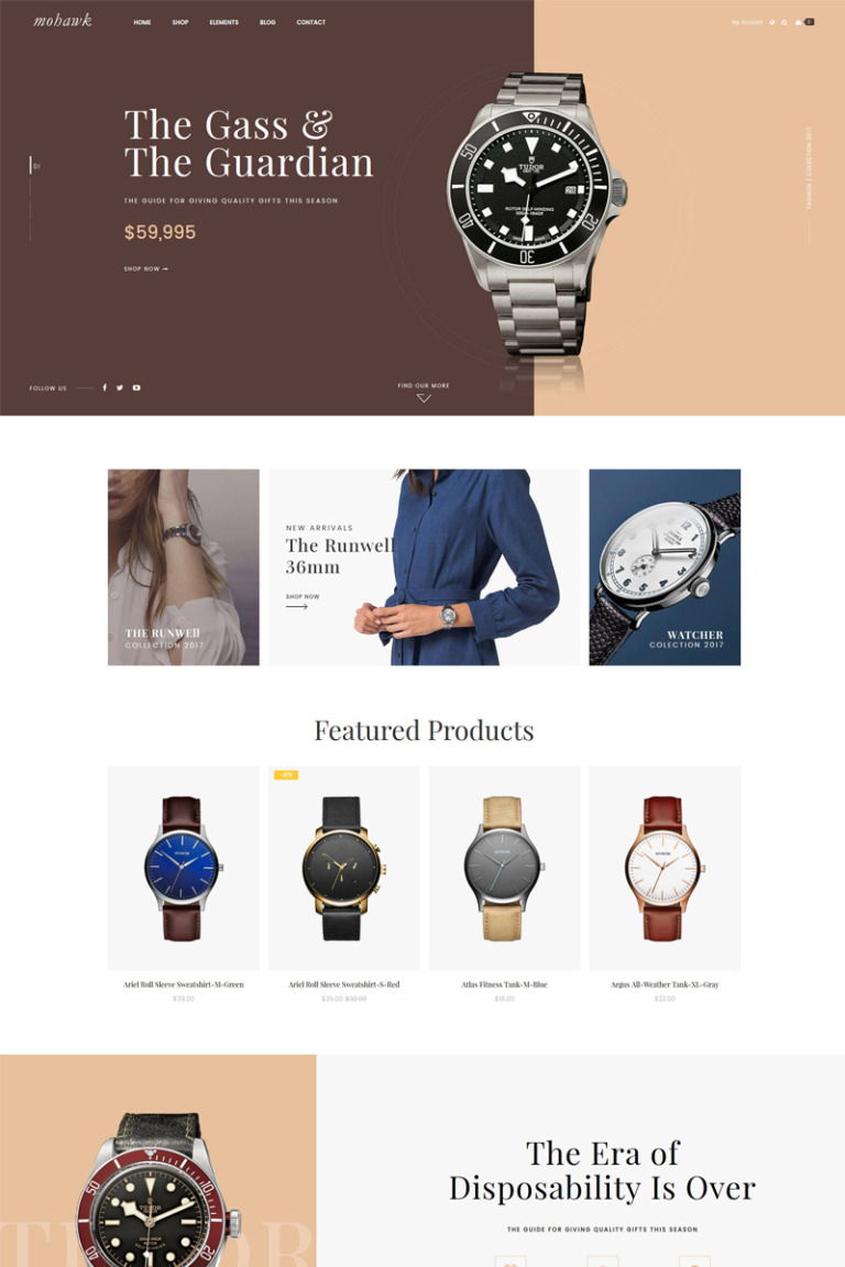 Mohawk - Responsive Magento 2 Template Magento Theme Big Screenshot