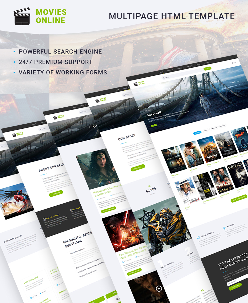Movies Online - Multipage HTML №64434