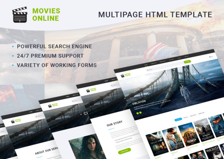 Online Movie Theater HTML