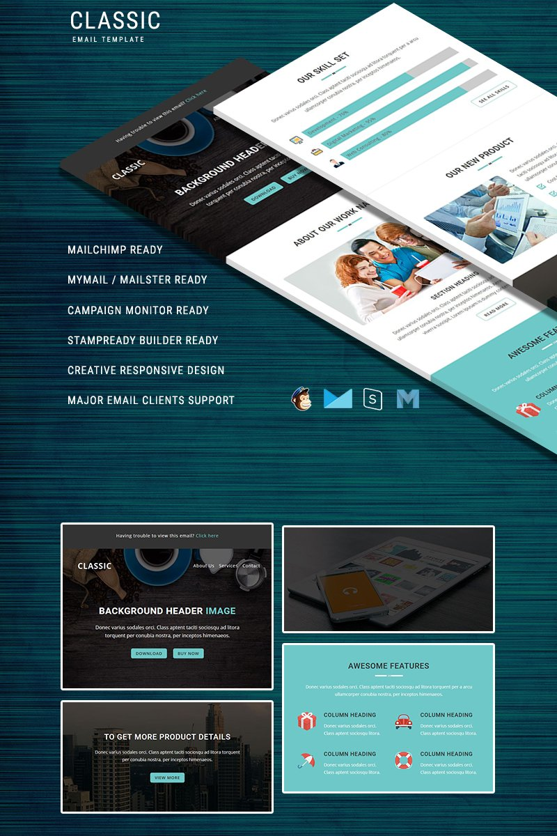 """Newsletter Vorlage namens """"Classic - Responsive Email Template"""" #64466"""