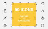 Plantilla de Conjunto de Iconos para Sitio de Moda para Hombre