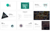Plantilla PowerPoint para Sitio de Negocio y Servicios