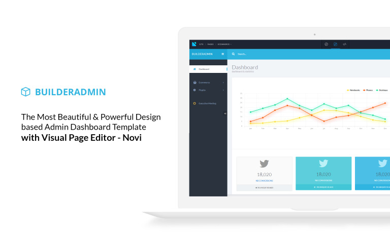 Responsive bootstrap admin template with visual builder flashek Choice Image