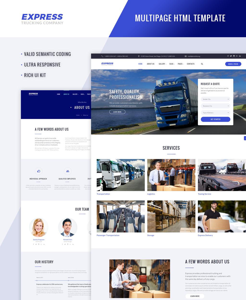 Responsivt Express - Logistics And Transportation Multipage Hemsidemall #64426