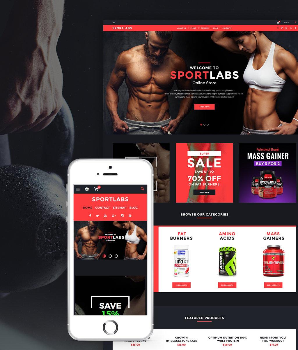 Responsivt Sports Nutrition PrestaShop-tema #64478