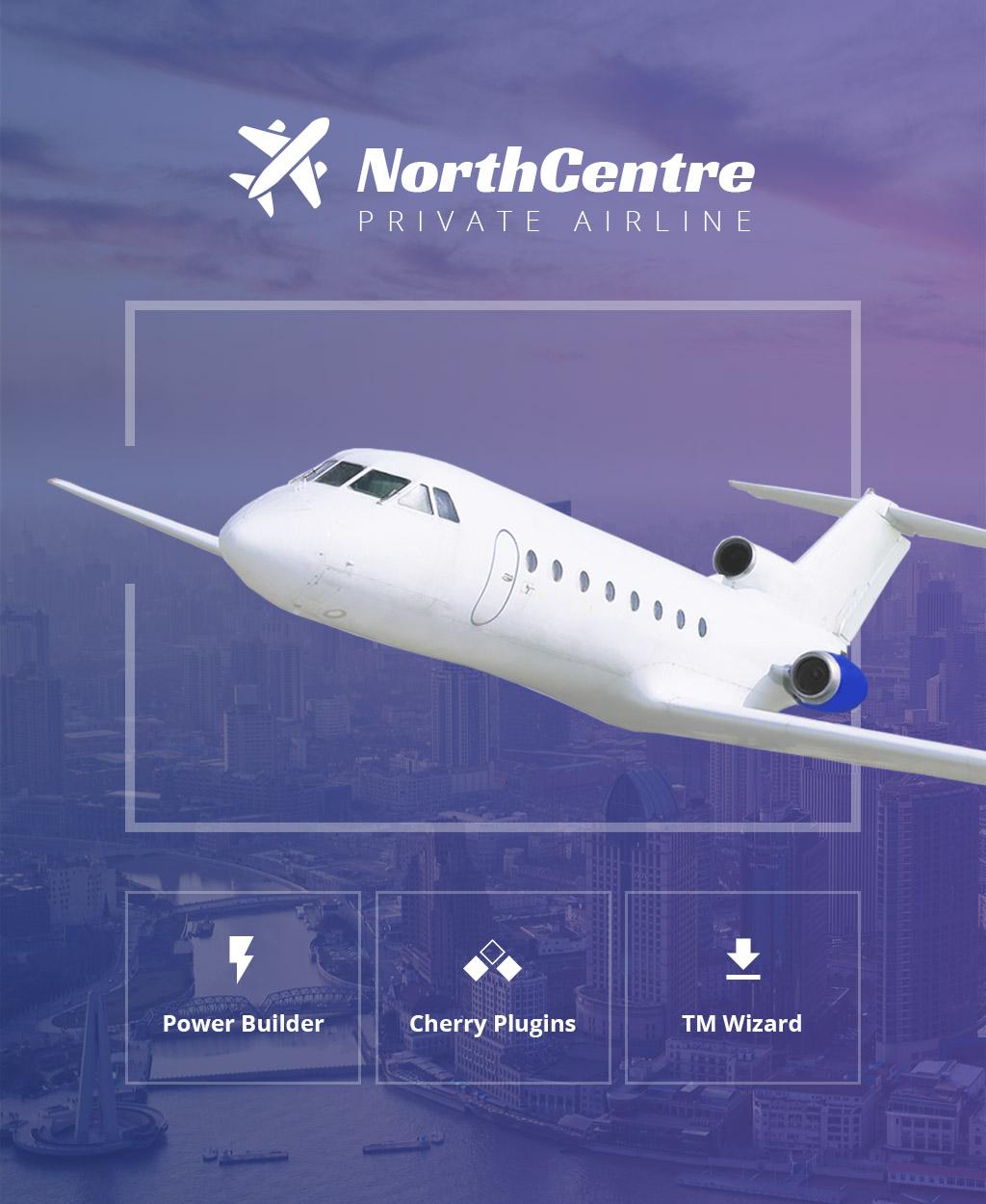 "Responzivní WordPress motiv ""North Centre - Private Airline WordPress Theme"" #64469 - screenshot"