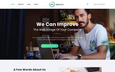 SEOMarket - SEO & Marketing Agency Website Template #64428