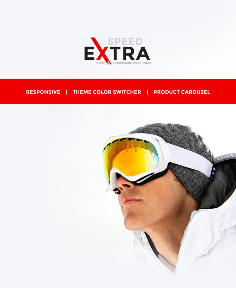 Snowboarding Responsive OpenCart Template New Screenshots BIG