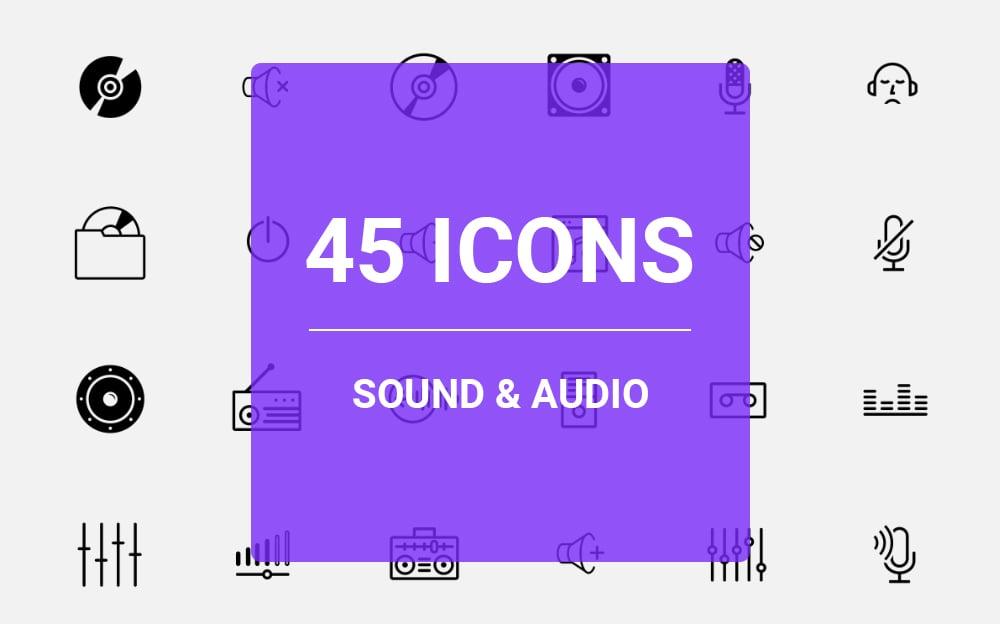Sound & Audio Icon Set Iconset #64459