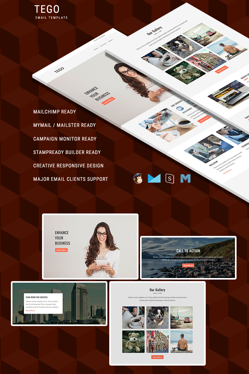 Tego - Responsive Email Template Newsletter Template - screenshot