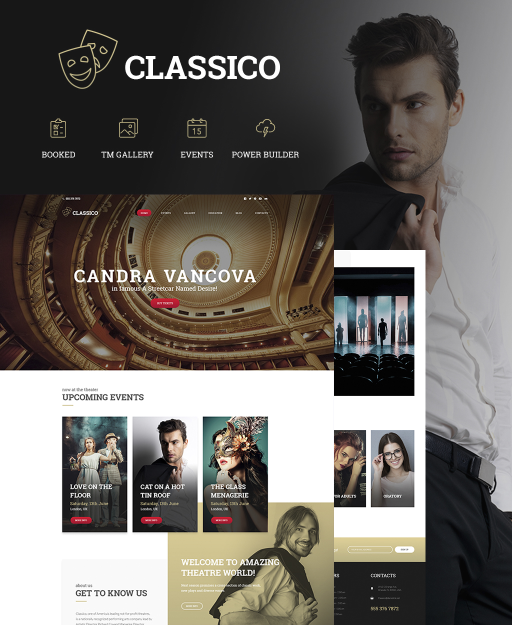 "Tema De WordPress ""Classico - Theater Responsive"" #64441"