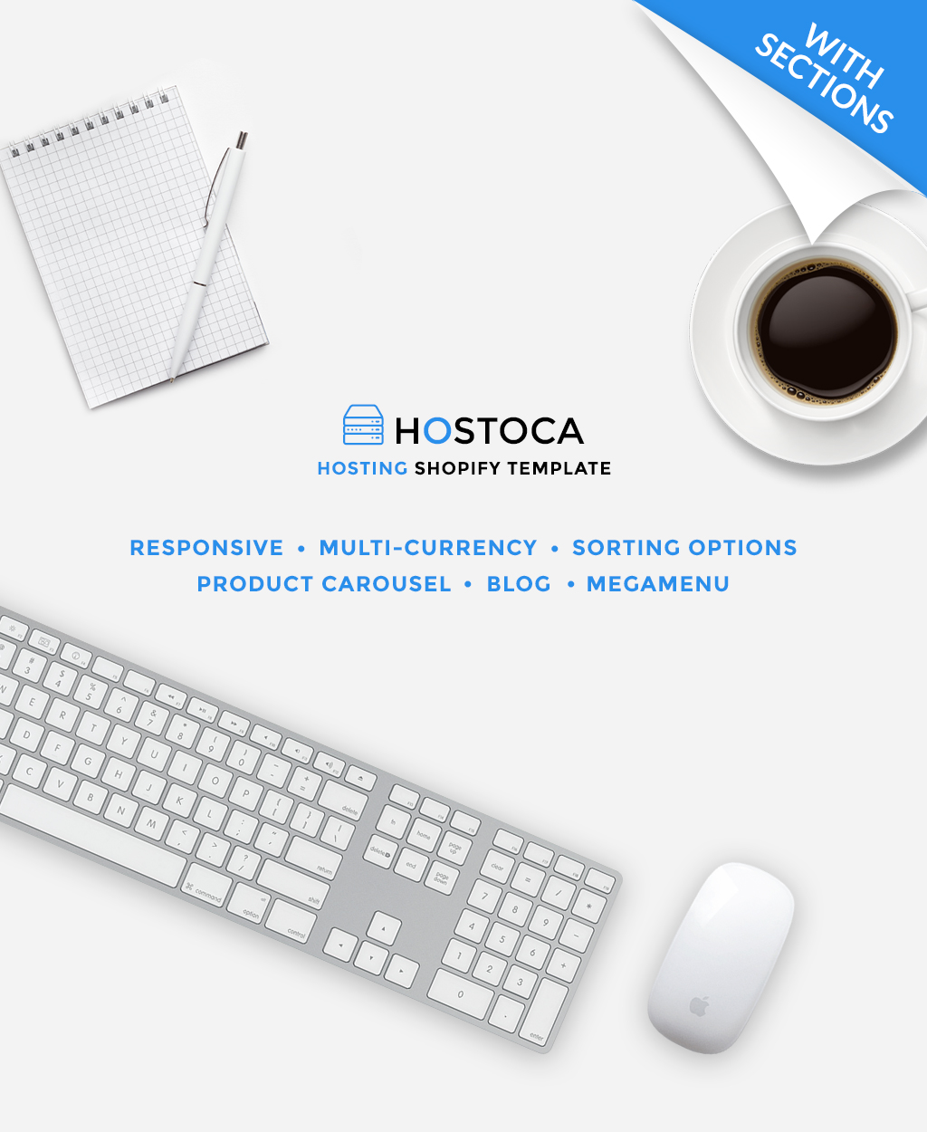 Tema Shopify Responsive para Sitio de Hosting #64415