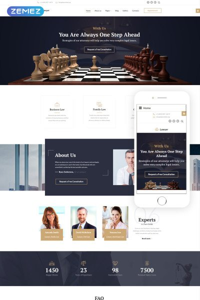 Law Firm Responsive Tema Joomla
