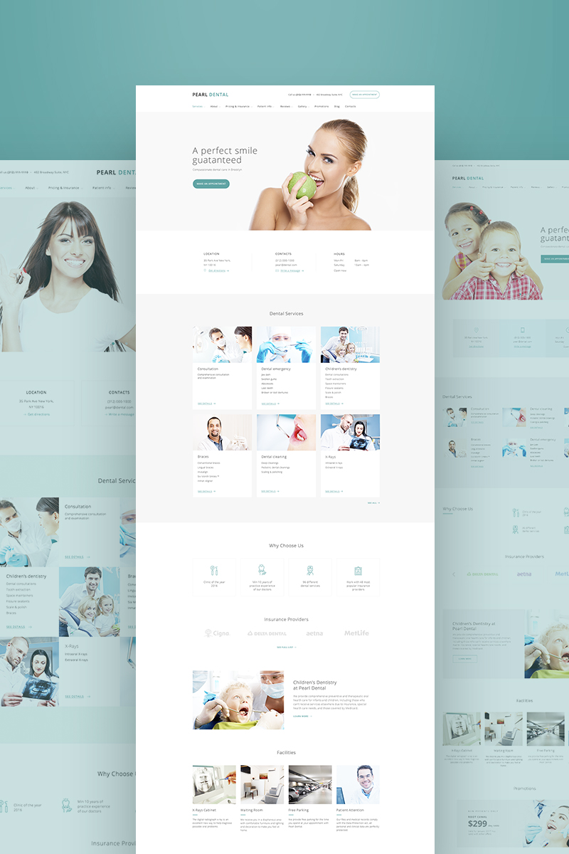 Dental Clinic Ready-made Website #64422