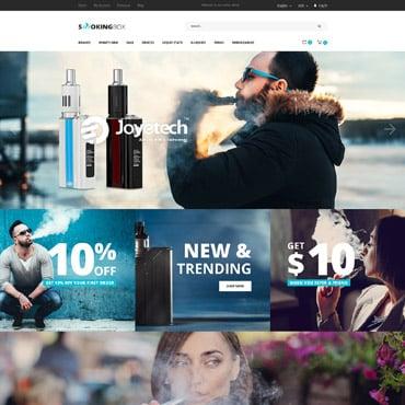 Купить Шаблон интернет магазина электронных сигарет - SMOKIGBOX. Купить шаблон #64500 и создать сайт.