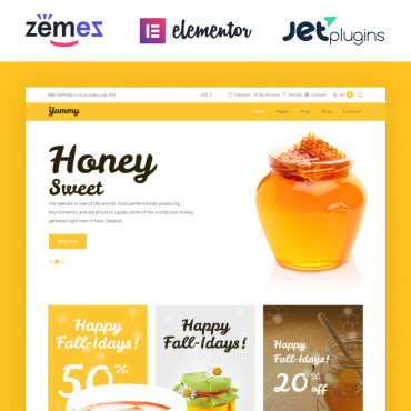 Preview image of Yummy - Honey Store WooCommerce Theme