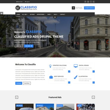 Preview image of CLASSIFIO - Classified Ads Drupal Theme