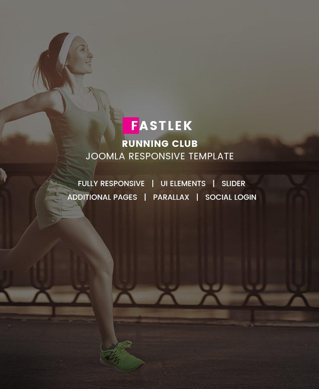 Адаптивный Joomla шаблон №64552 на тему бег