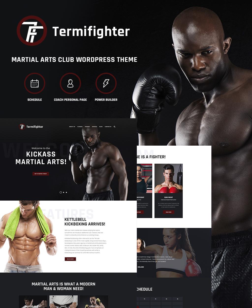 Адаптивный шаблон сайта на тему боевые искусства #64507