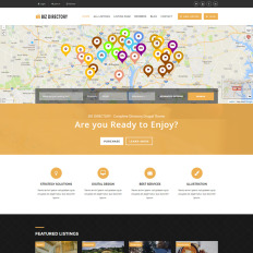 Drupal responsive themes templatemonster biz directory complete directory drupal theme pronofoot35fo Gallery