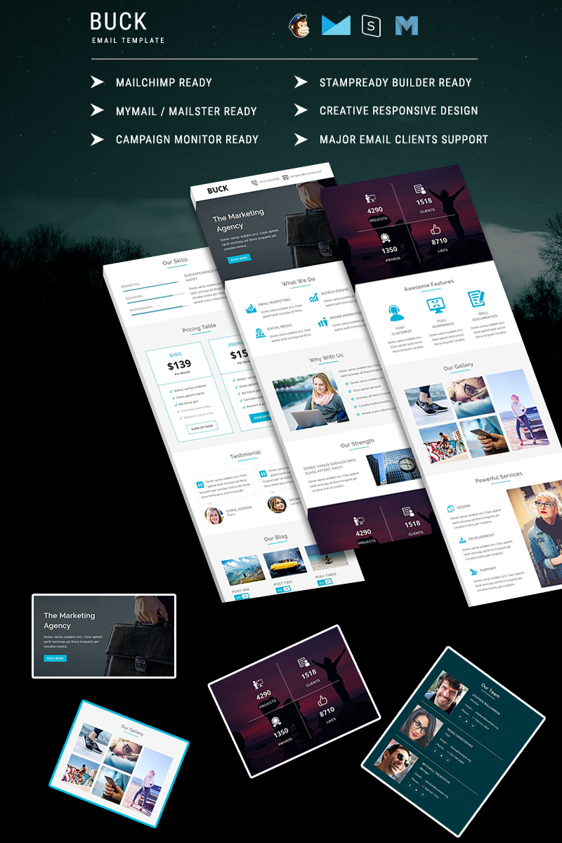 BUCK - Responsive Email Template №64527