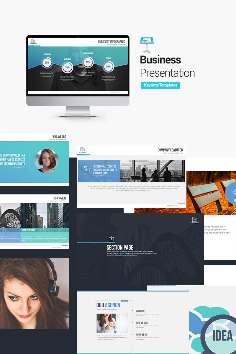 """Business Presentation Keynote Templates"" - Keynote шаблон №64543"