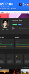 Cameron - Material CV / Resume / vCard / Portfolio Html Template Website Template New Screenshots BIG