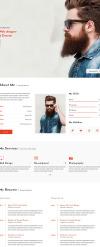Damon - Resume HTML Template New Screenshots BIG