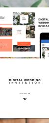 Digital Wedding Invitation, Wedding Invitation, wedding gift, powerpoint template PowerPoint Template New Screenshots BIG