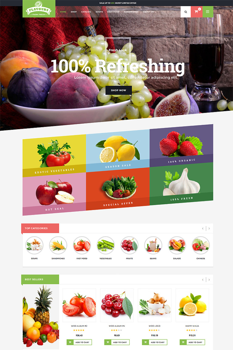 Flavours - Fruit Store Responsive Shopify Theme Shopify Theme Big Screenshot