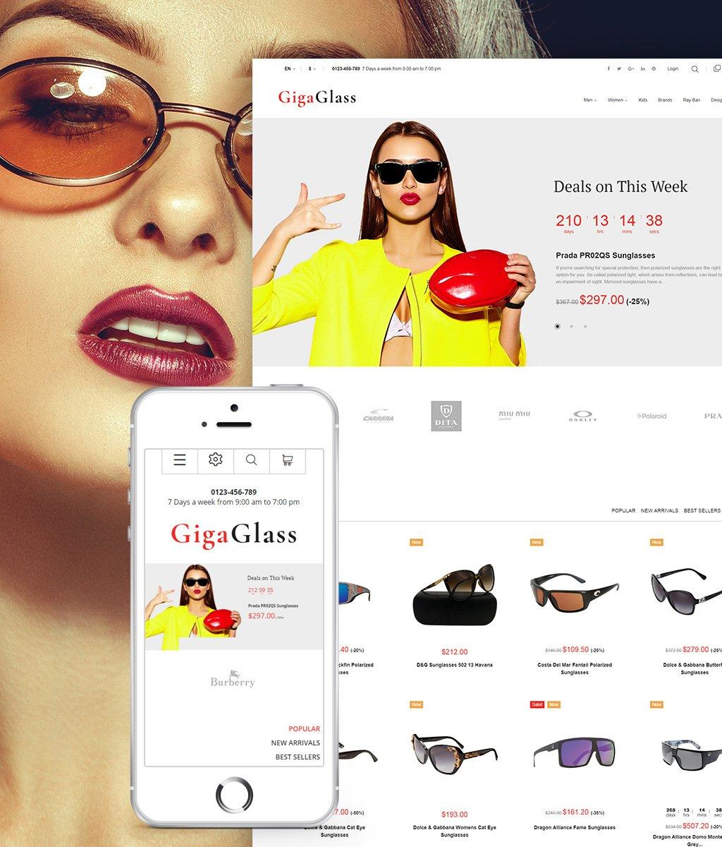 GigaGlass Tema PrestaShop №64594 - screenshot
