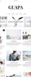 Guapa - A Minimalist WordPress Blog Theme New Screenshots BIG