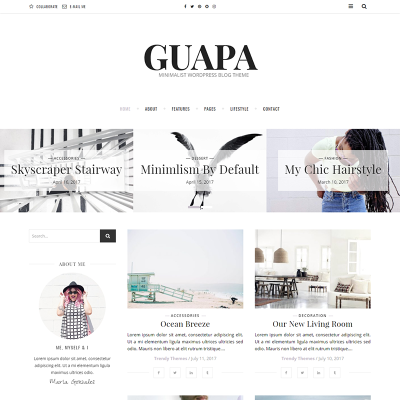 Tema de WordPress #64548 para Sitio de Bloges de moda