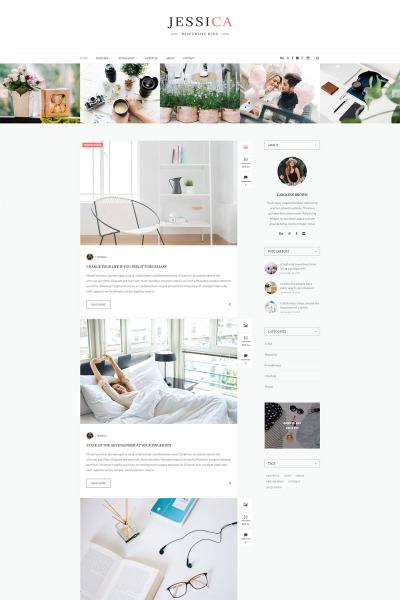 Jessica - Responsive Blog WordPress Theme #64593