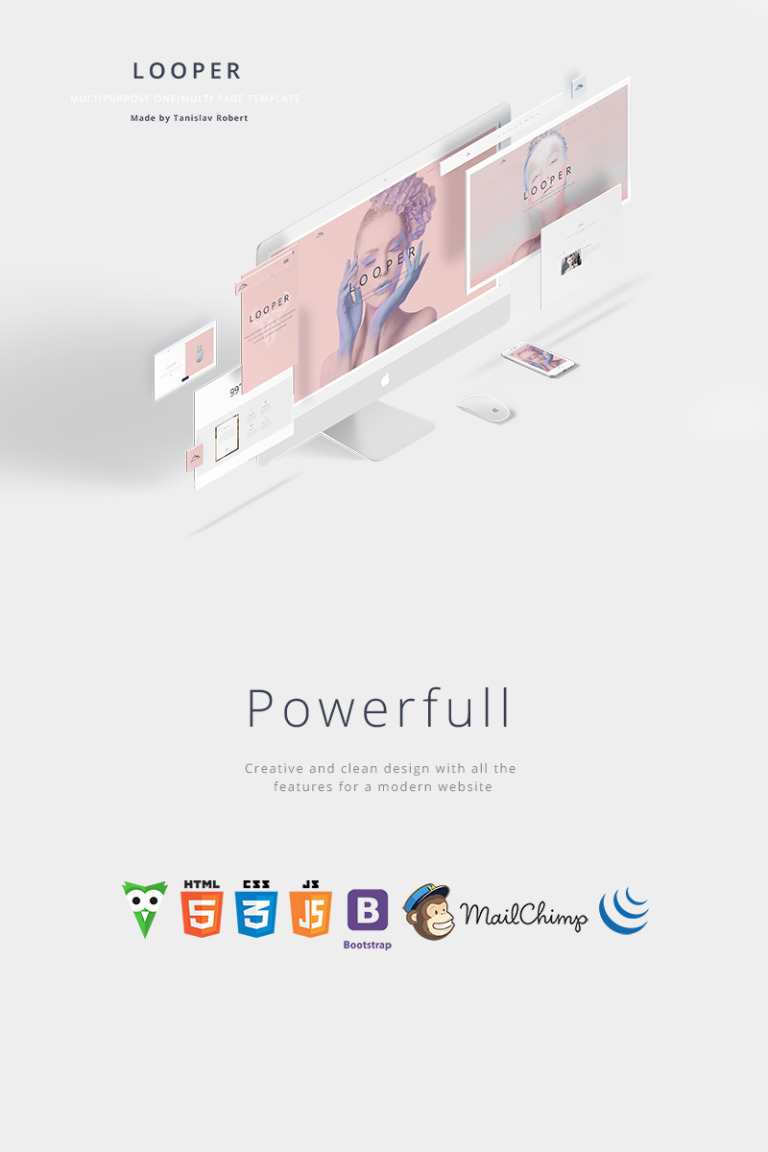 Looper - Multipurpose One/Multi Page Template Website Template New Screenshots BIG