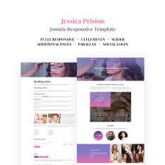 Makeup Artist Parallax Joomla Template #64554