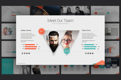 marketing idea powerpoint template powerpoint template #64523, Modern powerpoint