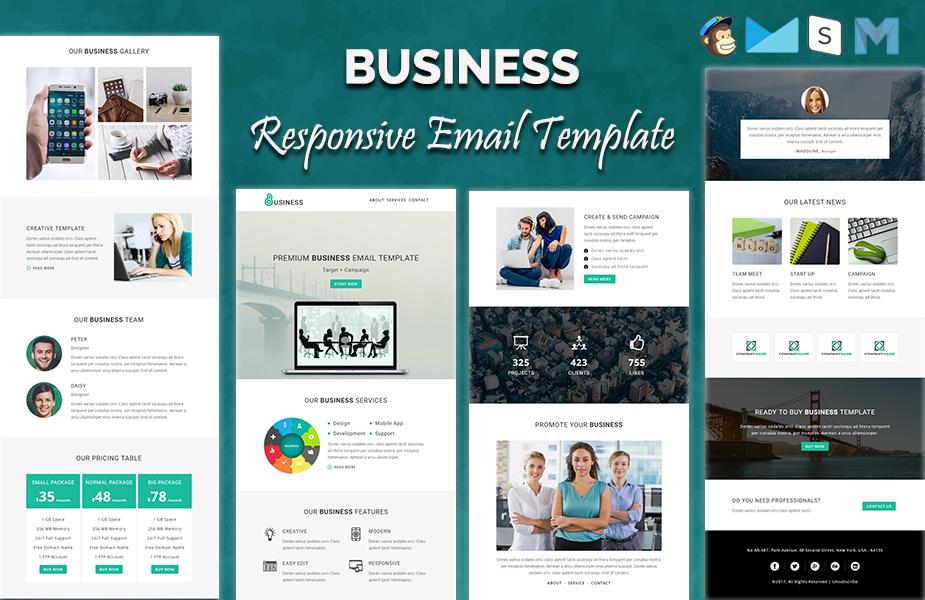"Newsletter šablona ""Business - Responsive"" #64535"