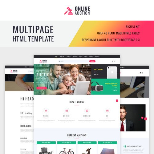 Online Auction - Website Template based on Bootstrap