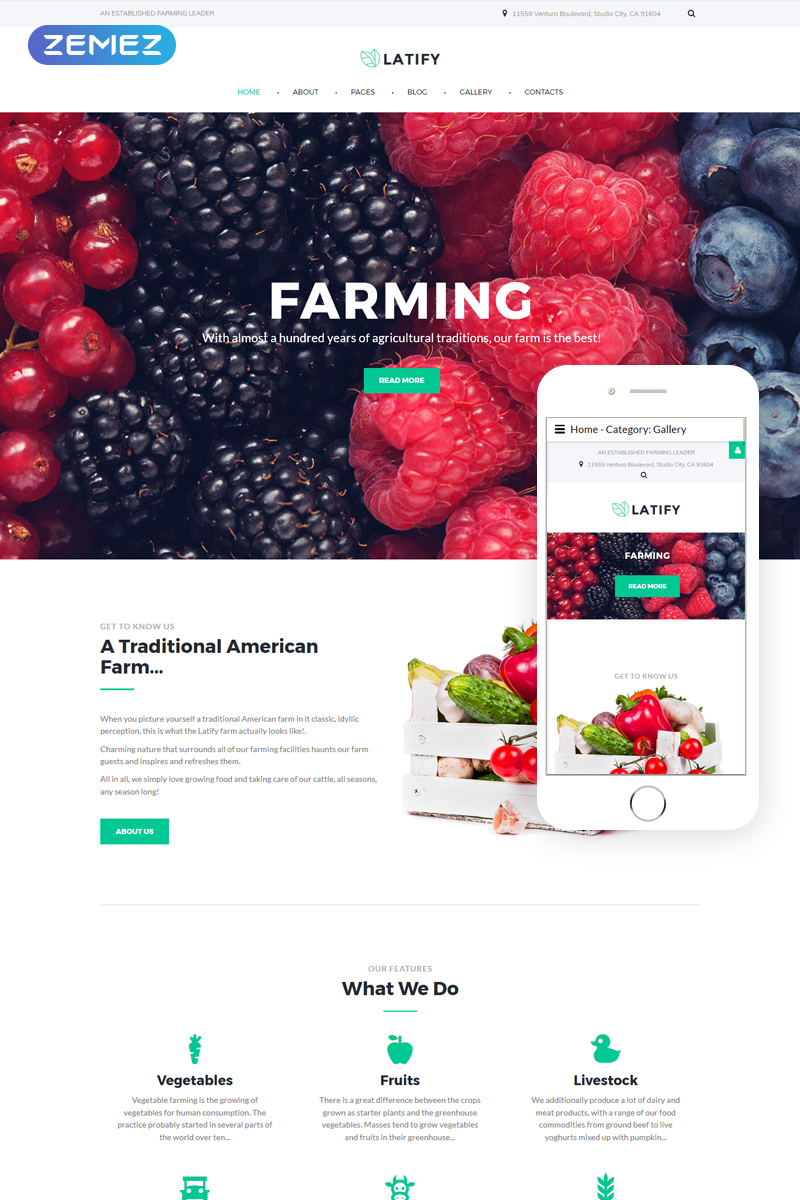 Responsive Joomla Vorlage für Farm #64553