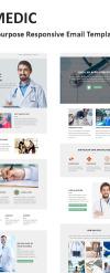Responsive Newsletter Vorlage für Medizin  New Screenshots BIG