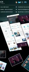 Responsive Nieuwsbrief Template over E-mail diensten  New Screenshots BIG