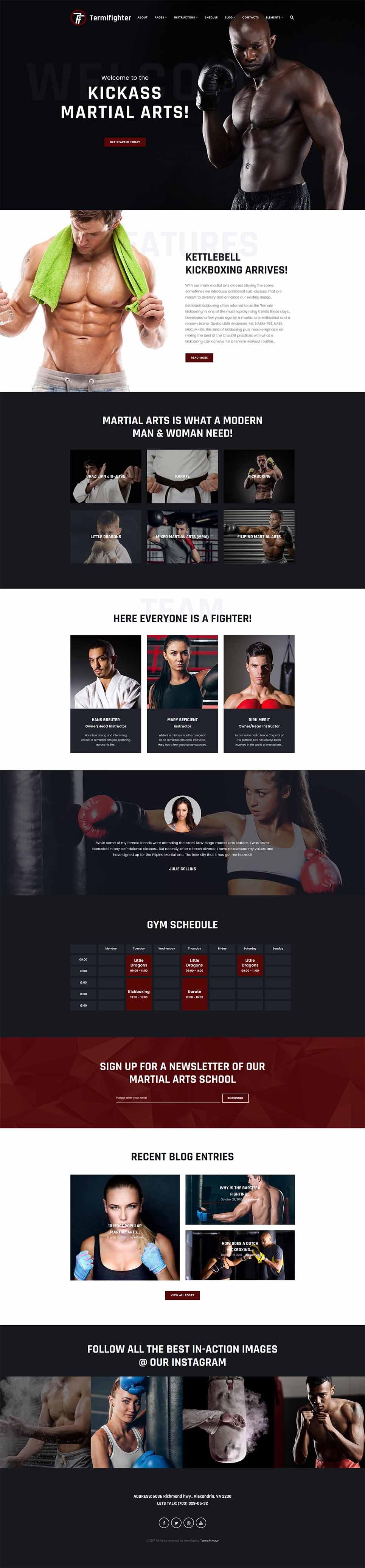 WordPress Theme #64507 für Kampfsport