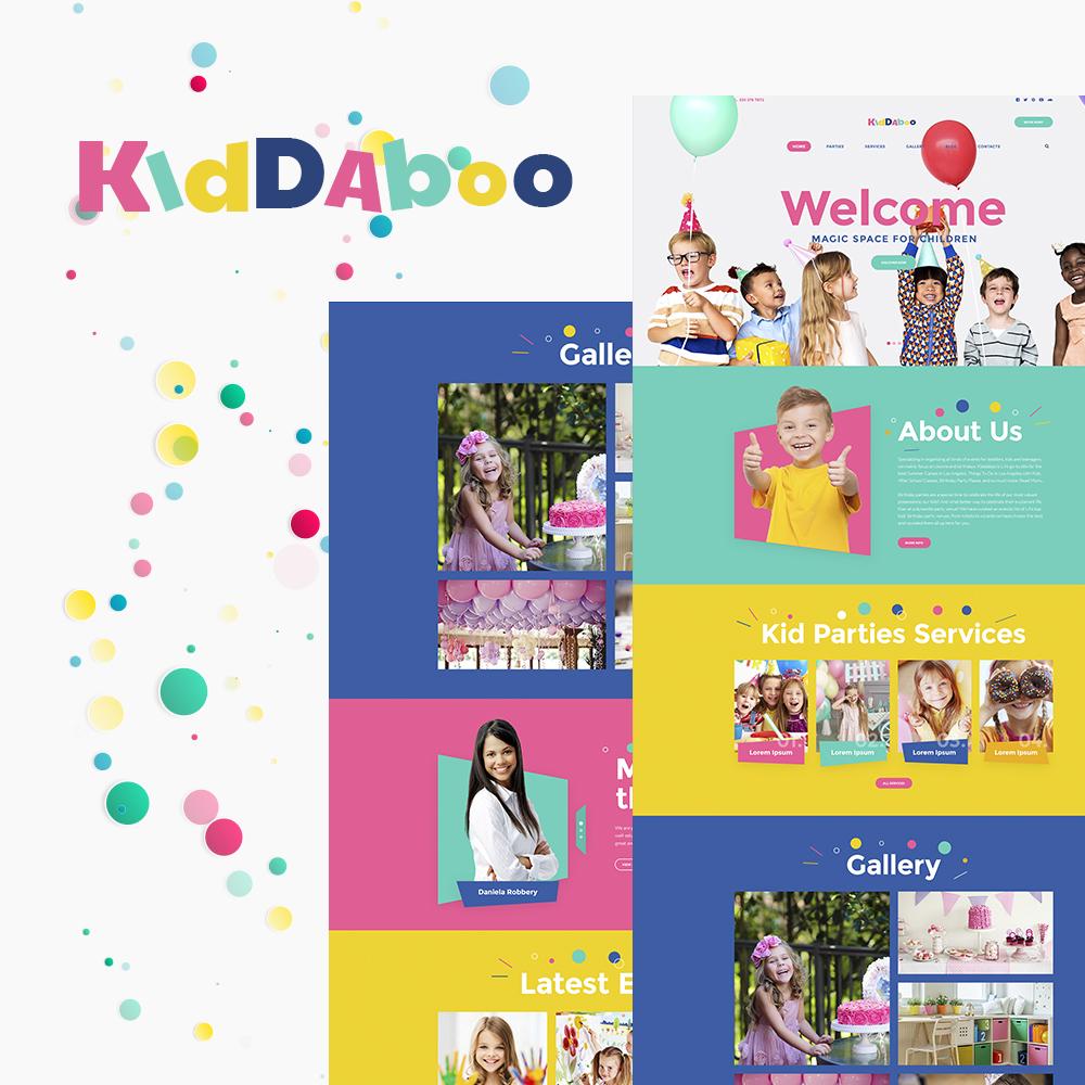 Responsivt Kiddaboo - Kid Parties Services Responsive WordPress Theme WordPress-tema #64547 - skärmbild
